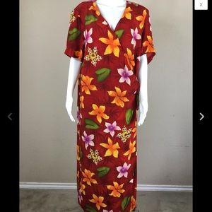 Sheri Martin Women's Dress Size 18W Floral Rayon